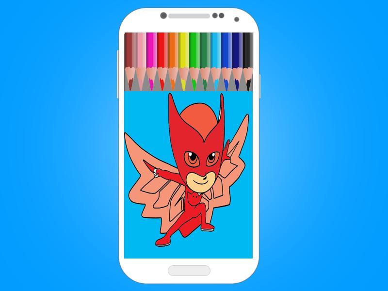 Páginas Para Colorear Héroes En Pijamas For Android Apk