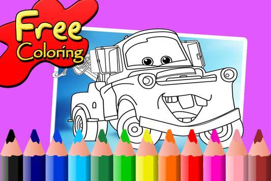 Mcqueen Coloring Book For Cars Apk Screenshot