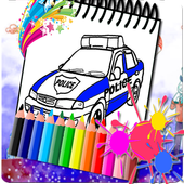 Car Police Amazing Coloring Book icon