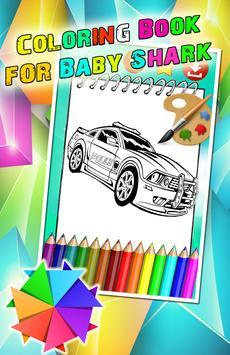 Car Police Amazing Coloring Book poster