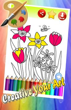 Flowers Tulip Coloring Pages screenshot 1