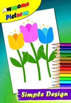 Flowers Tulip Coloring Pages screenshot 2