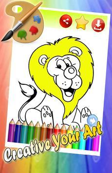 Coloring Lion Sketch Fun Art screenshot 1