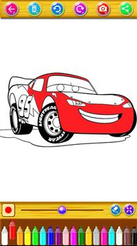 Mcqueen Cars 3 Coloring Book Poster