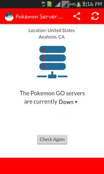 Server Status Pokemon Go apk screenshot