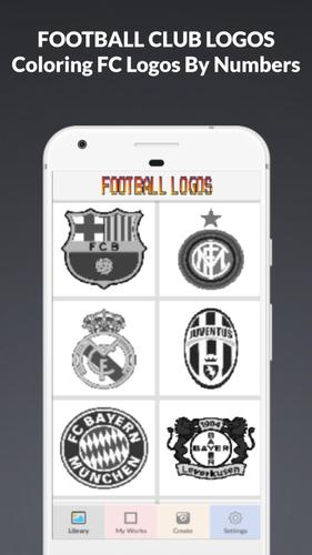 Colors Football Logo Pixel Art Coloring By Numbers For