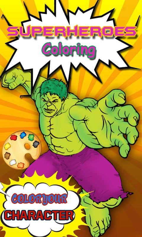 Hulk Coloring pages :Superheroes Coloring book for Android ...
