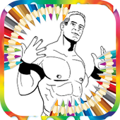 Coloring Page WWE icon