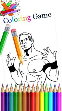 Coloring Page WWE poster