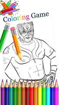 Coloring Page WWE screenshot 1