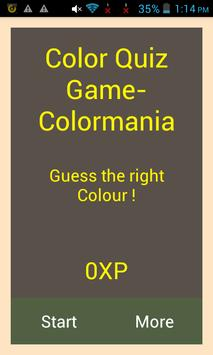 Guess The Color- ColorMania poster
