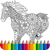 Animal coloring mandala pages icon