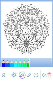 Animal coloring mandala pages screenshot 4