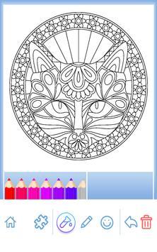Animal coloring mandala pages screenshot 5
