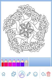 Animal coloring mandala pages screenshot 7