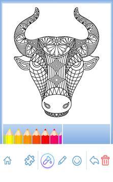 Animal coloring mandala pages screenshot 10