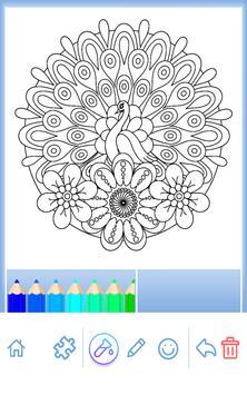 Animal coloring mandala pages screenshot 12