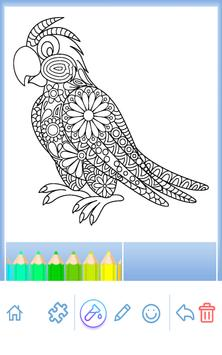 Animal coloring mandala pages screenshot 14