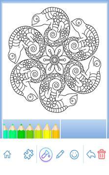 Animal coloring mandala pages screenshot 16