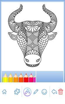 Animal coloring mandala pages screenshot 18