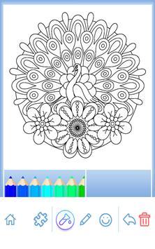 Animal coloring mandala pages screenshot 20