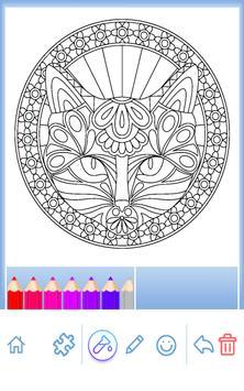 Animal coloring mandala pages screenshot 21