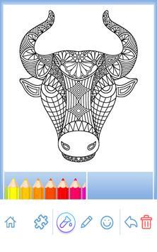 Animal coloring mandala pages screenshot 2