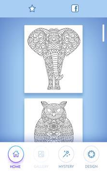 Animal coloring mandala pages screenshot 3