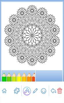 Flowers Mandala Coloring Book Apk Screenshot