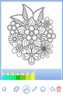 Flowers Mandala Coloring Book Apk Screenshot