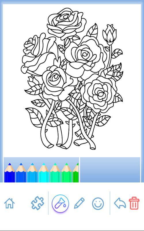 Färbung Erwachsene: Blumen APK-Download - Kostenlos ...