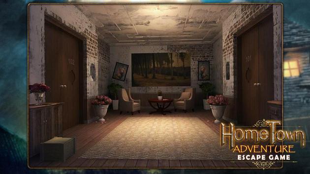 Escape game:home town adventure poster