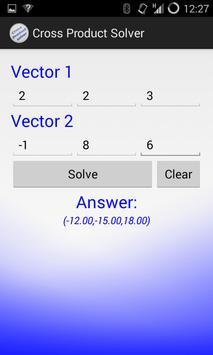 Vector Cross Product apk screenshot