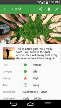 Goals - To achieve your goals! apk screenshot