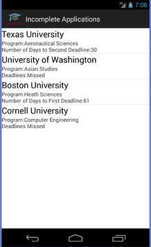 College Applications Reminder screenshot 6