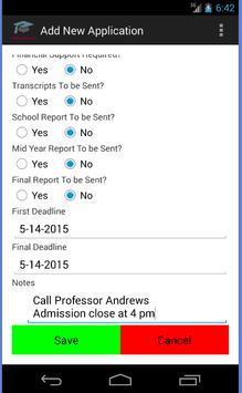 College Applications Reminder screenshot 2