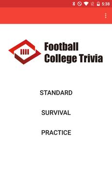 Football College Trivia poster