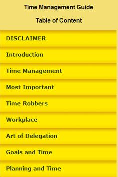 Time Management Guide poster
