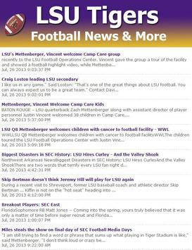 LSU Football News screenshot 5