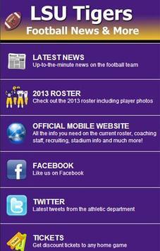 LSU Football News poster