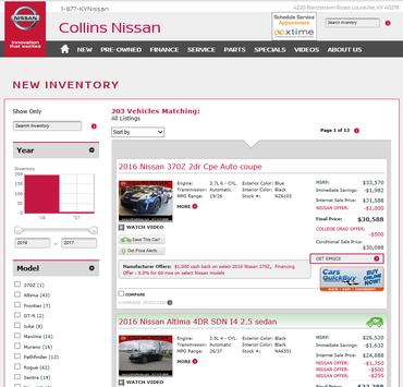 Collins Nissan screenshot 1