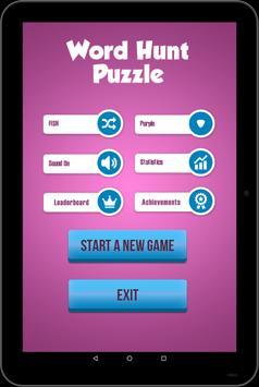 Word Hunt Puzzle - Word Finder apk screenshot