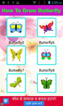 Draw Butterfly Step By Step apk screenshot