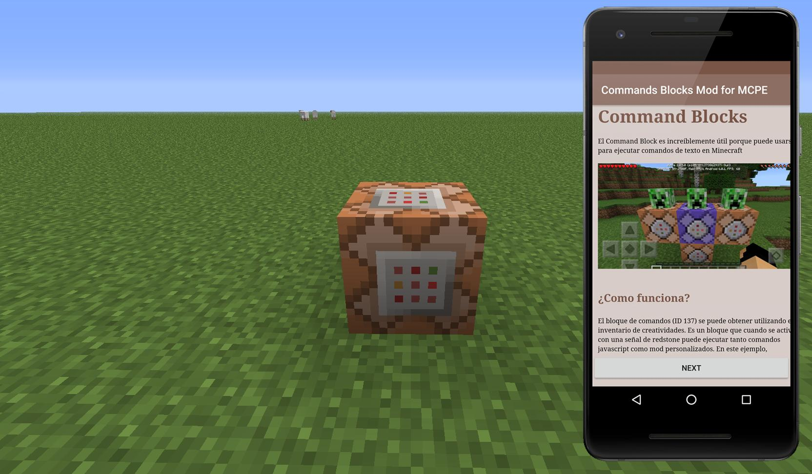 Commands Blocks Mod For Mcpe For Android Apk Download