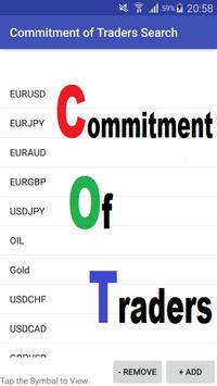Commitment of Traders Search poster