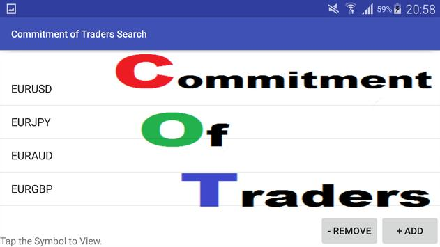Commitment of Traders Search apk screenshot