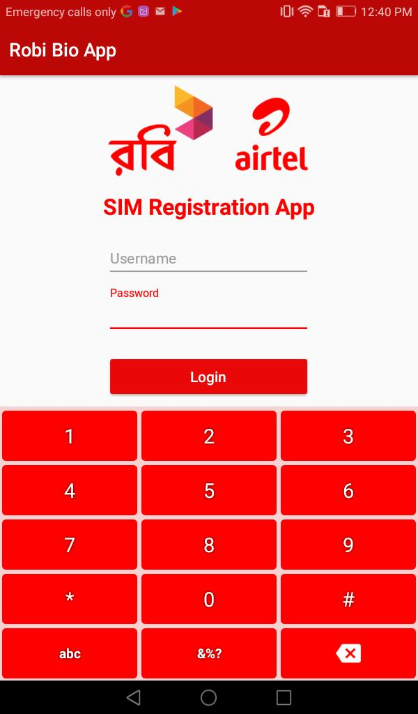Robi Biometric Verification System (BVS) App for Android - APK Download