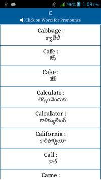 Common Words English to Telugu screenshot 3
