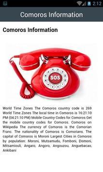 Comoros Emergency Call screenshot 1