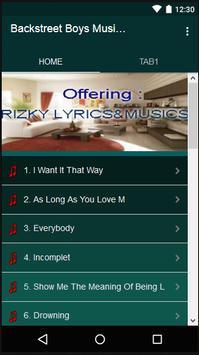 Backstreet Boys Music & Lyrics screenshot 1